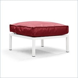 ZUO Copacabana Outdoor Polyster Fiber Ottoman in Red