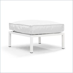 ZUO Copacabana Outdoor Polyster Fiber Ottoman in White