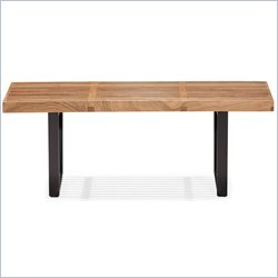 ZUO HeyWood Modern Wood Single Bench in Natural