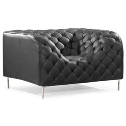 ZUO Providence Tufted Arm Chair in Black