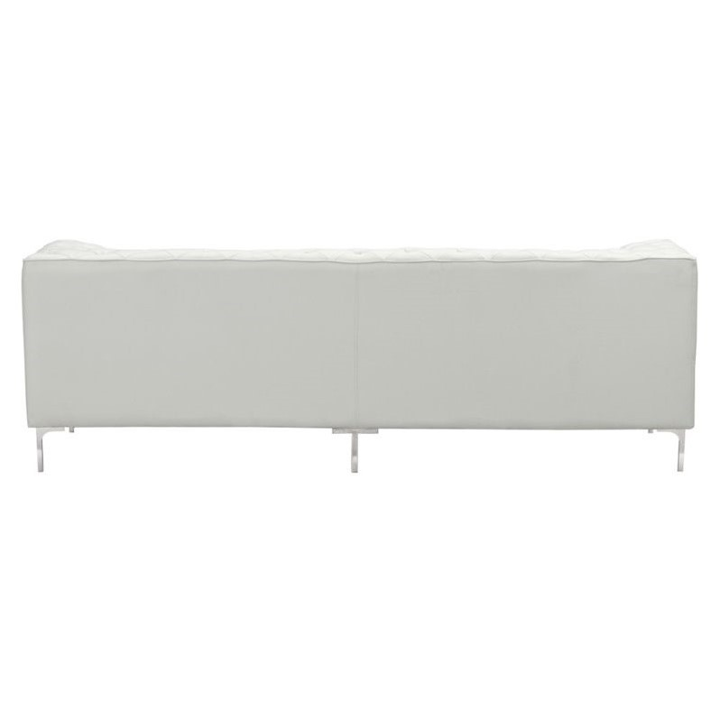 Zuo Providence Modern Faux Leather Sofa In White 900275
