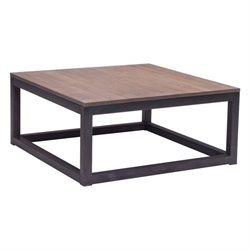 Zuo Civic Center Square Coffee Table in Distressed Natural