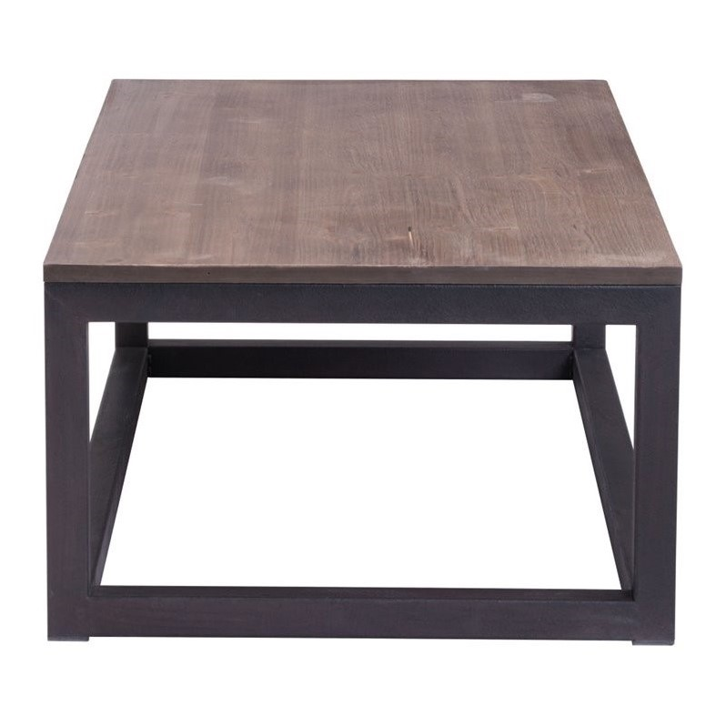 Zuo Civic Center Long Coffee Table in Distressed Natural