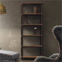 Zuo Mission Bay Tall 6 Level Shelf in Distressed Natural Finish