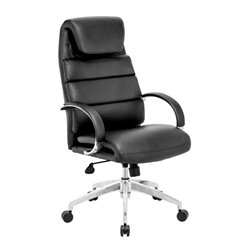 Zuo Lider Comfort Faux Leather Office Chair in Black