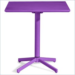 ZUO Big Wave Folding Square Table in Purple