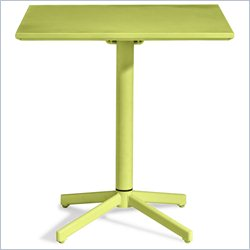 ZUO Big Wave Folding Square Table in Lime