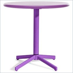 ZUO Big Wave Folding Round Table in Purple