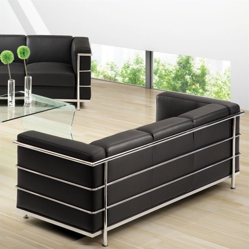Zuo Fortress Sofa In Black 900230