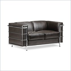 Zuo Fortress Love Seat in Black