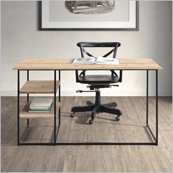 Zuo Russian Hill Desk in Natural Oak