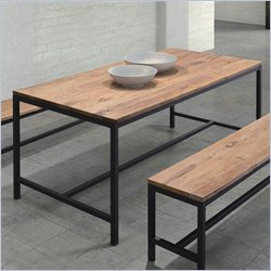 Zuo Mansell Dining Table in Distressed Natural