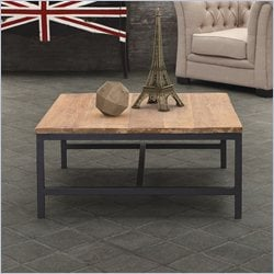 Zuo Gilman Square Coffee Table in Distressed Natural