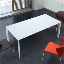 Zuo Helsinki Extension Dining Table in White