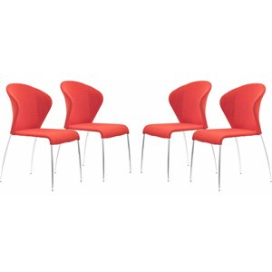 Zuo Oulu Dining Chair in Tangerine