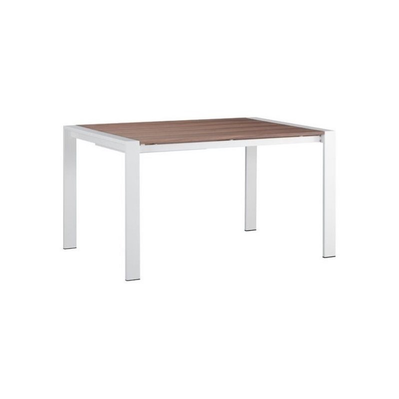 Zuo Oslo Extension Dining Table in Walnut and White