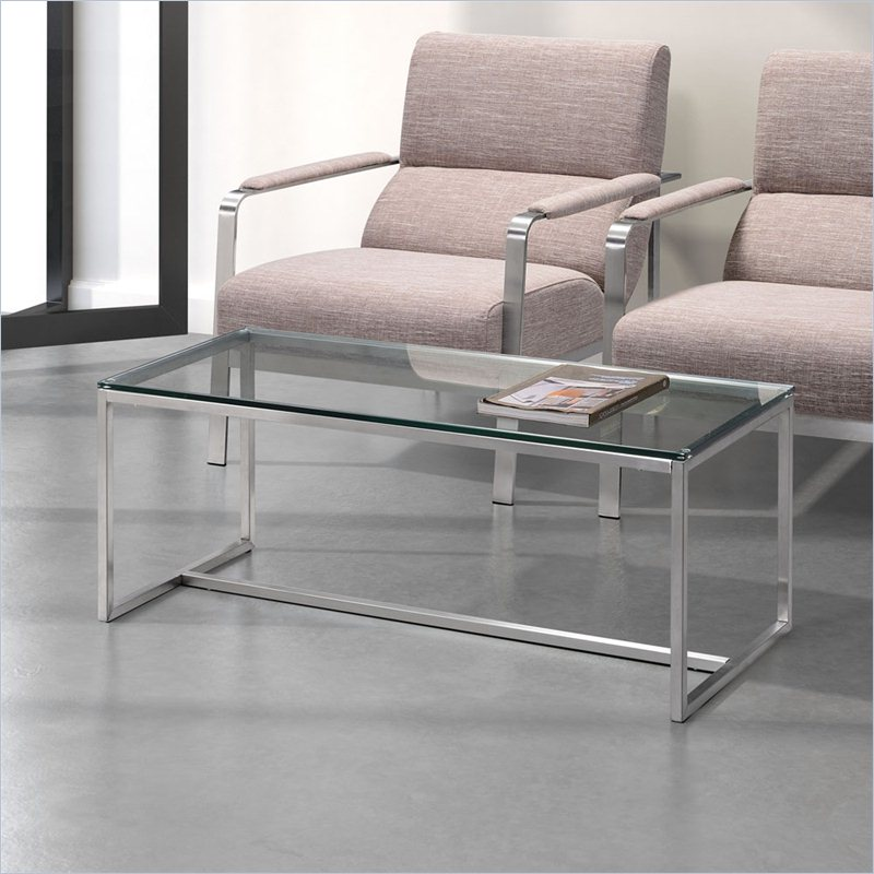 Zuo Sprocket Coffee Table in Clear