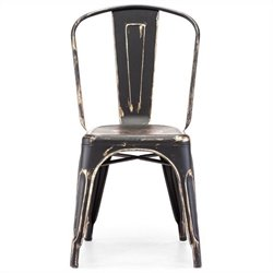 Zuo Elio Dining Chair in Antique Black Gold