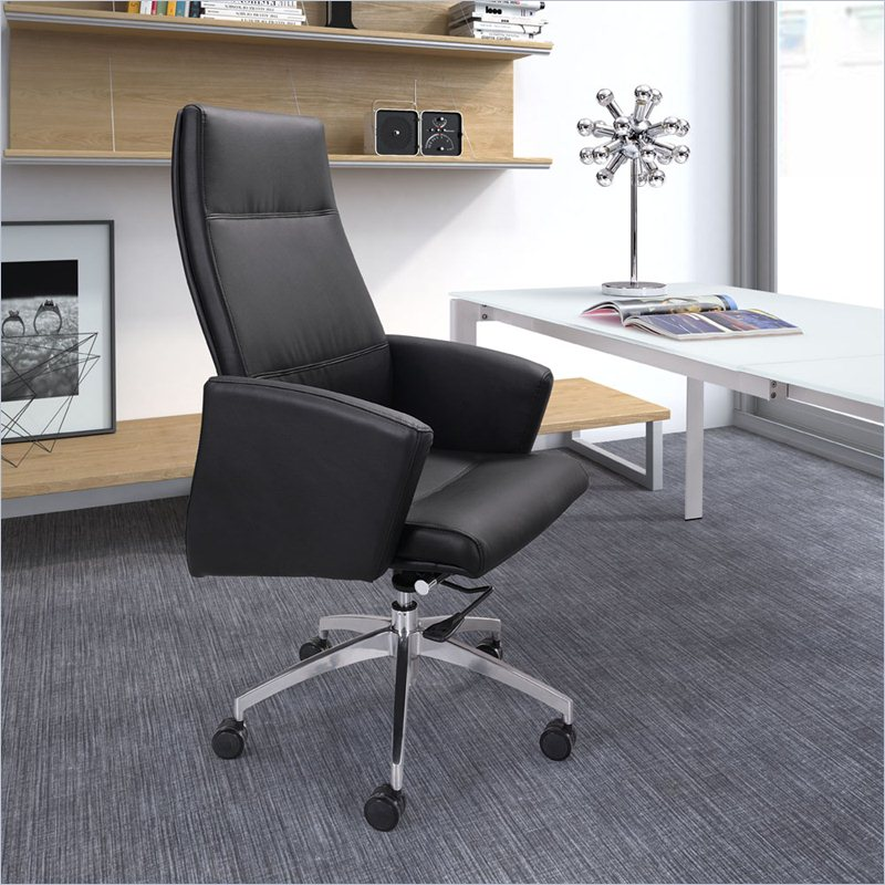 Zuo Chieftain High Back Office Chair in Black