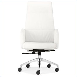Zuo Chieftain High Back Office Chair in White