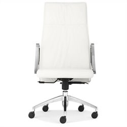 Zuo Dean High Back Office Chair in White