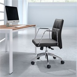 Zuo Dean Low Back Office Chair in Black