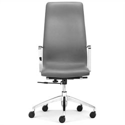 Zuo Herald High Back Office Chair in Gray