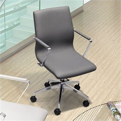 Zuo Herald Low Back Office Chair in Gray
