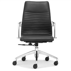 Zuo Lion Low Back Office Chair in Black