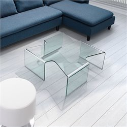 Zuo March Coffee Table in Clear