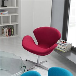 Zuo Pori Armchair Carnelian in Red