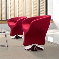 Zuo Kuopio Armchair Carnelian in Red