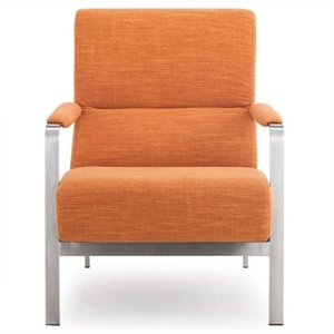 Zuo Jonkoping Fabric Arm Chair in Orange