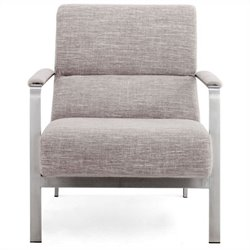 Zuo Jonkoping Fabric Arm Chair in Beige