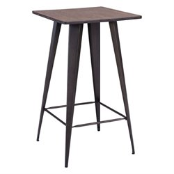 Zuo Titus Bar Table in Rustic Wood