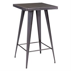 Zuo Olympia Bar Table in Gunmetal