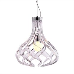 Zuo Cyclone Ceiling Lamp in Clear