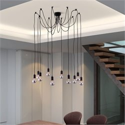 Zuo Fog Ceiling Lamp in Black