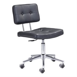 Zuo Series Faux Leather Office Chair in Black