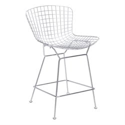 Zuo Wire Bar Stool in Chrome