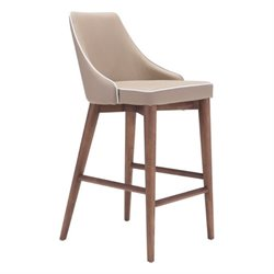 Zuo Moor Bar Stool in Beige