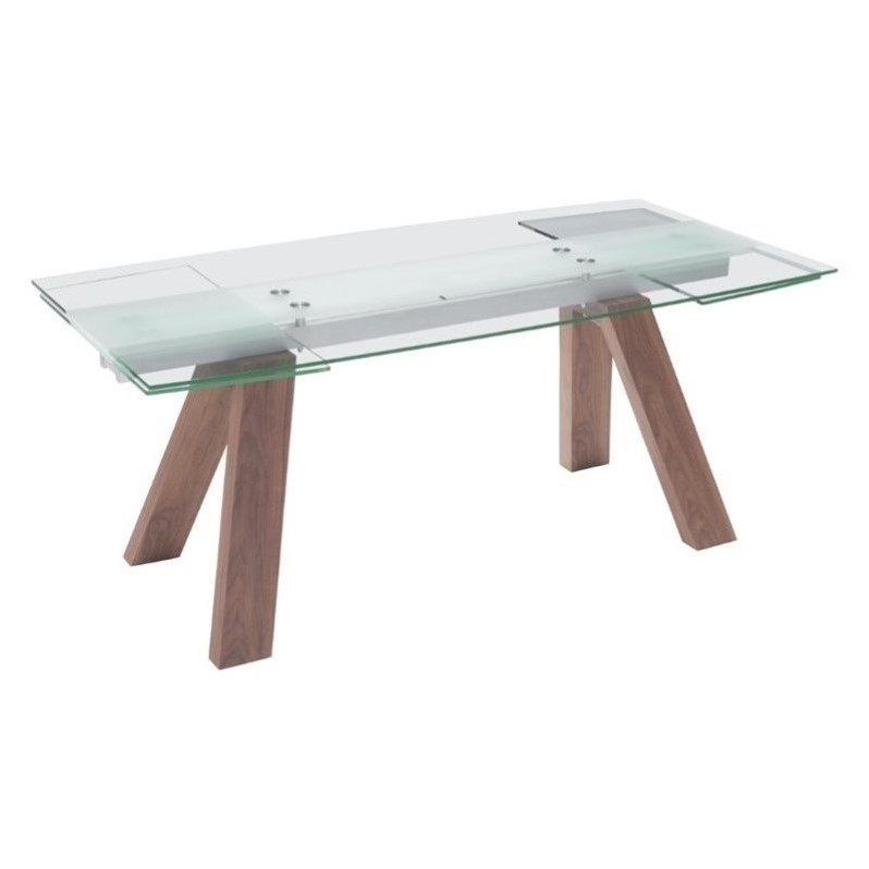 Zuo Wonder Extendable Glass Dining Table Dining Furniture  : 673956 2 L from www.ebay.com size 798 x 798 jpeg 32kB
