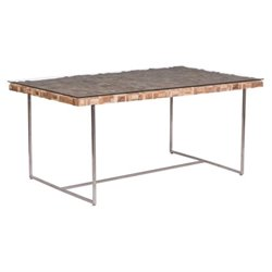 Zuo Collage Glass Dining Table in Natural