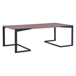 Zuo Sister Coffee Table in Walnut and Black