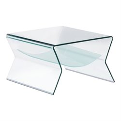 Zuo Yoga Glass End Table in Frosted