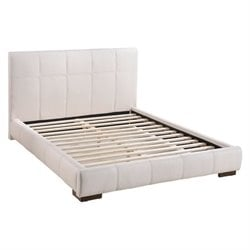 Zuo Amelie Faux Leather Upholstered Queen Platform Bed in White
