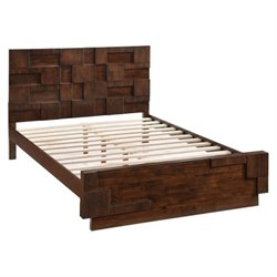 Zuo San Diego Queen Panel Bed in Walnut