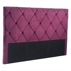 Zuo Matias Velvet King Headboard in Wine