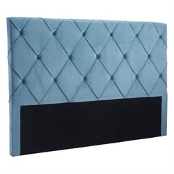 Zuo Matias Velvet King Headboard in Blue