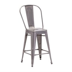 Zuo Elio Bar Stool in Gunmetal
